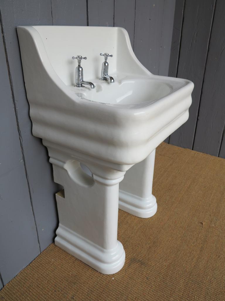 Wide Base Pedestal Sink : Antique Sink on a Twin Pedestal Base,stand,Bathroom Sink with pedestal ...