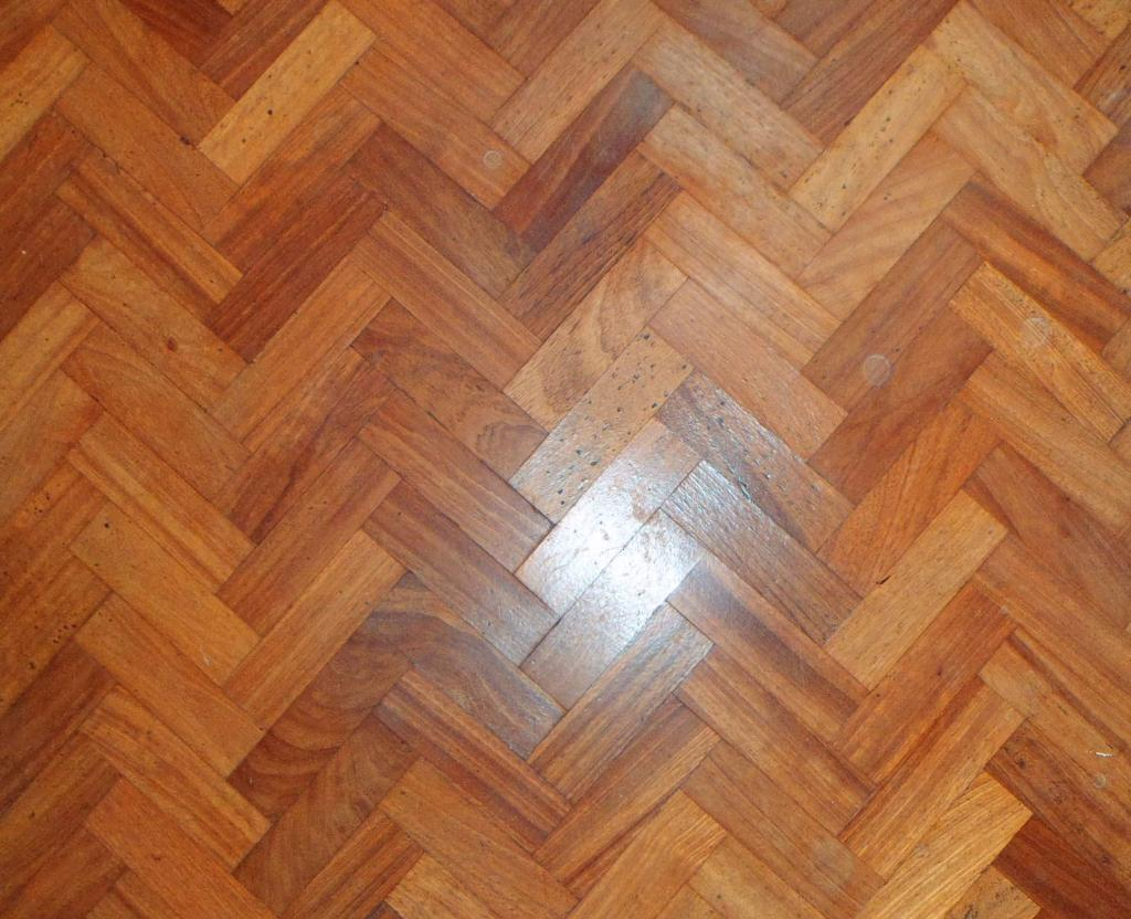 Reclaimed hardwood parquet flooring is original and made from oak, mahogany, teak, cherry, maple or walnut