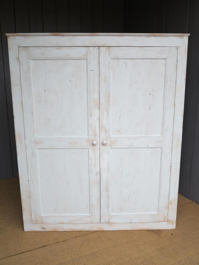 armoire bespoke made to your sizes from reclaimed pine and painted in a colour of your choice handmade by our onsite joiners