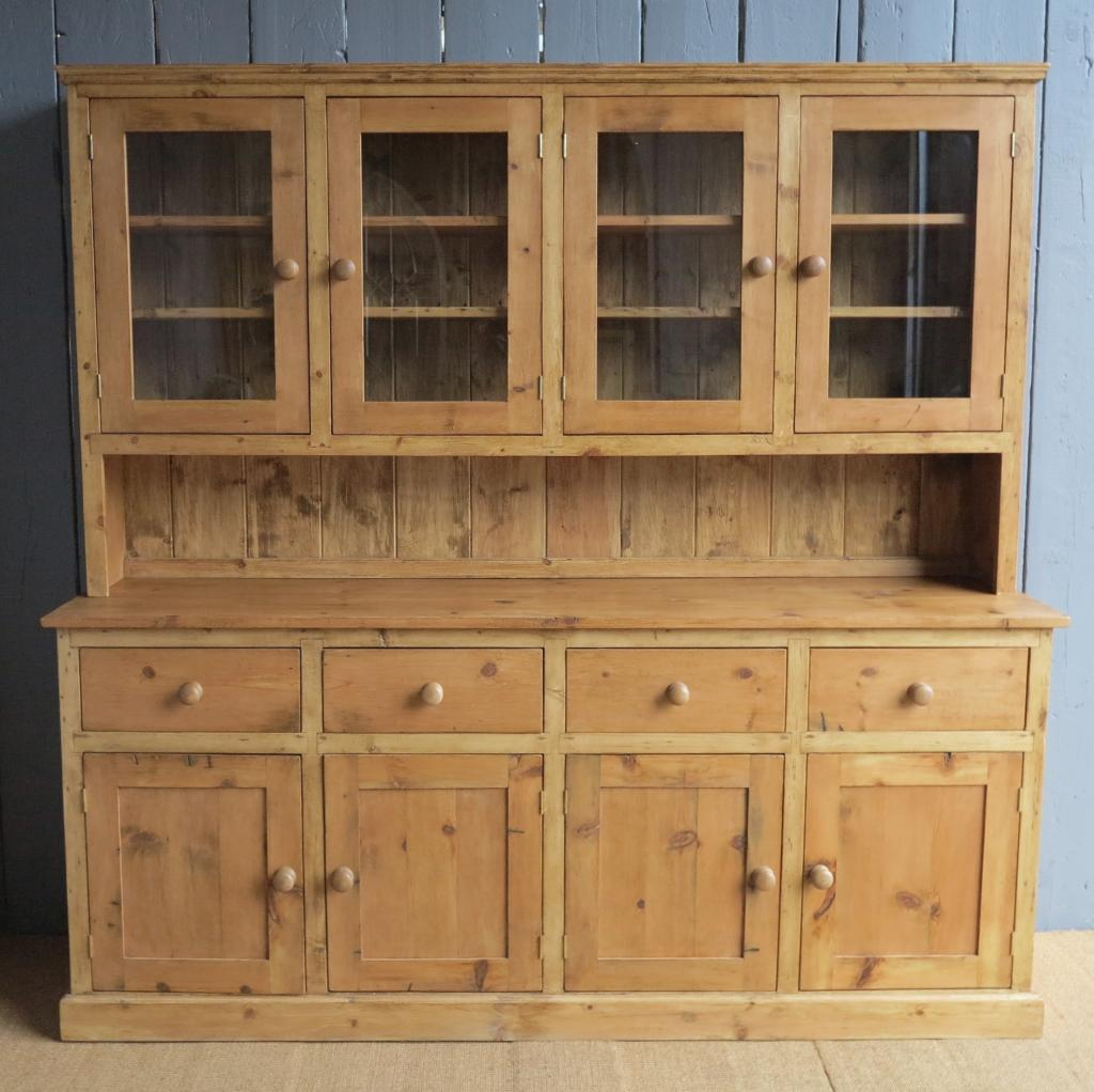 Built to your size pine welsh dresser made from reclaimed pine here in our workshops