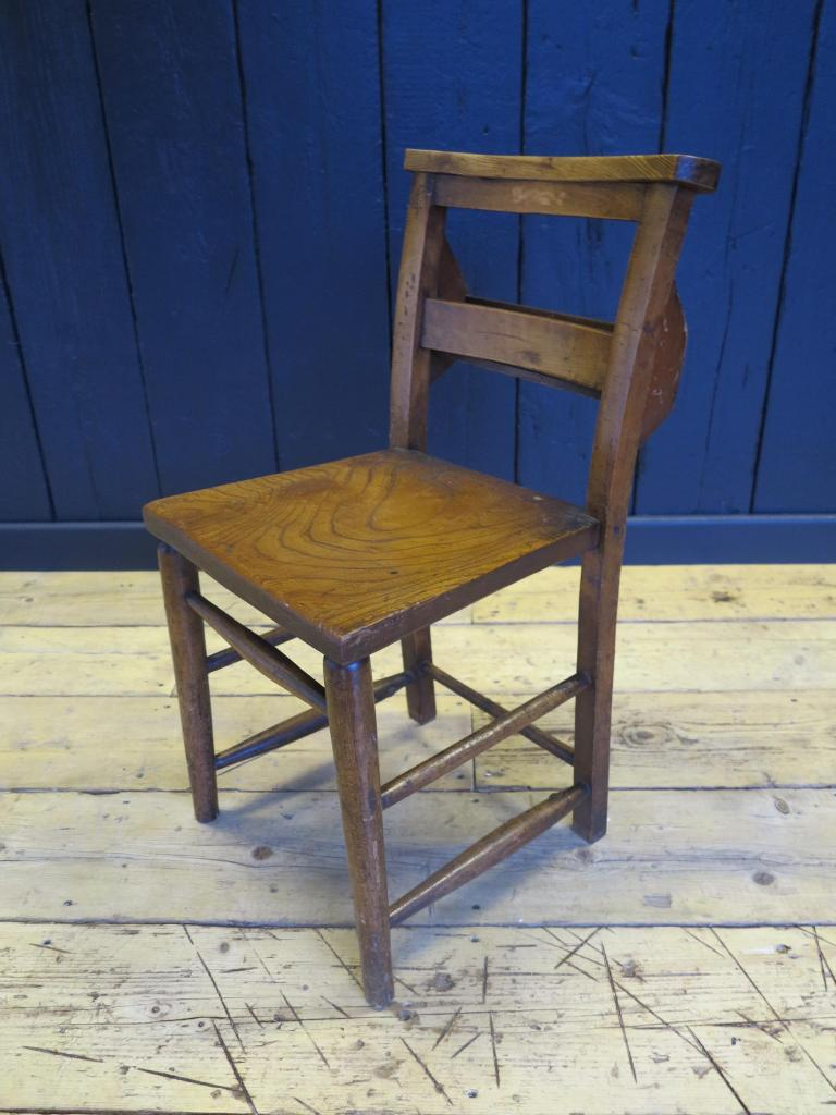 Antique victorian church chairs with book holders for Used school furniture outlet