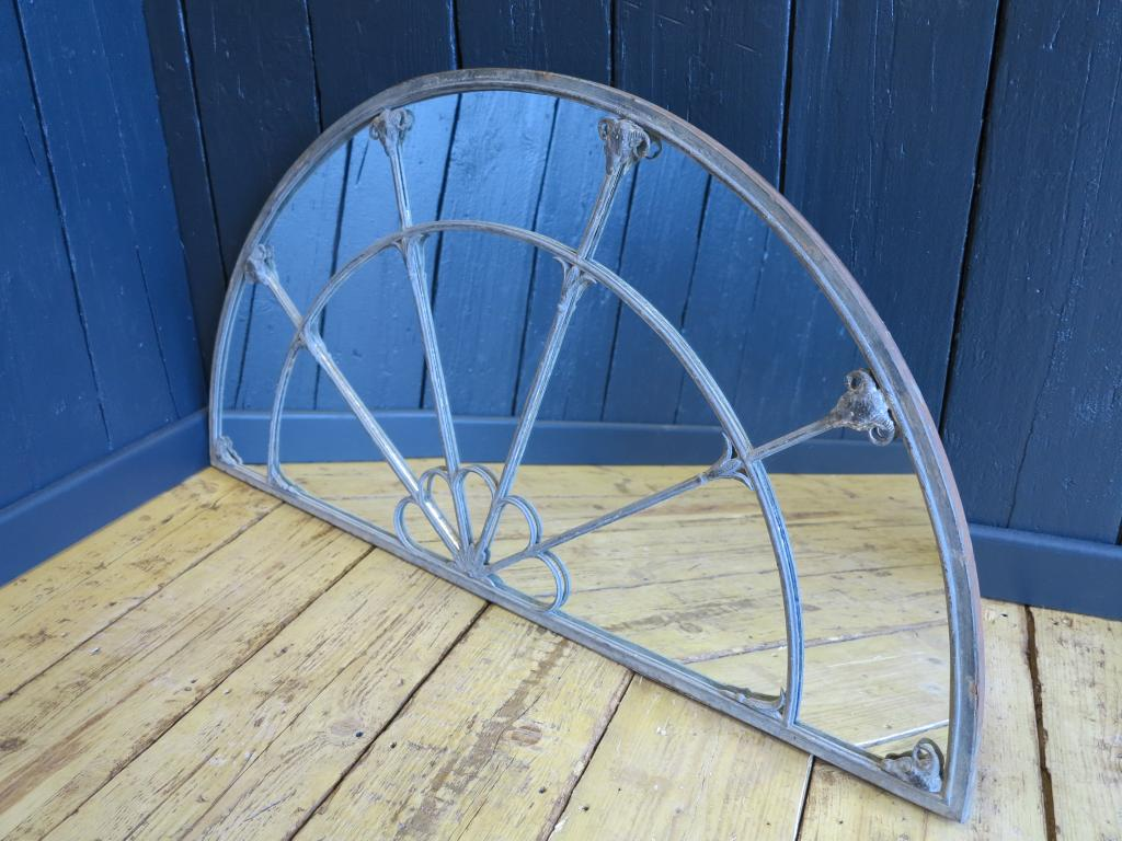 Antique Georgian Arched Mirror Lead and Cast Iron Arched Mirror with ...