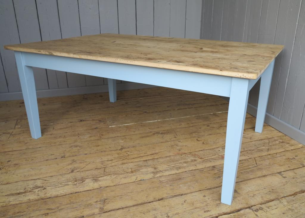 Traditional scrub top table made in your bespoke sizes from Victorian reclaimed floorboards give a rustic aged look to any of the tables