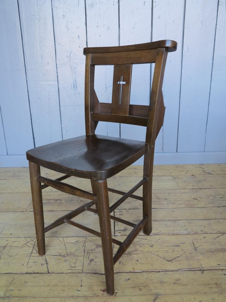 Original Antique Church And Chapel Chairs in a Dark finish In our shop