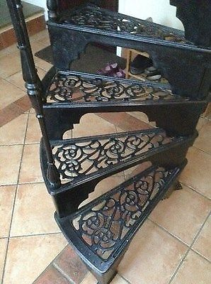 ... Cast Iron Spiral Staircase : Cast Iron Steps Spiral Staircase Stair  Case Reclaimed ...
