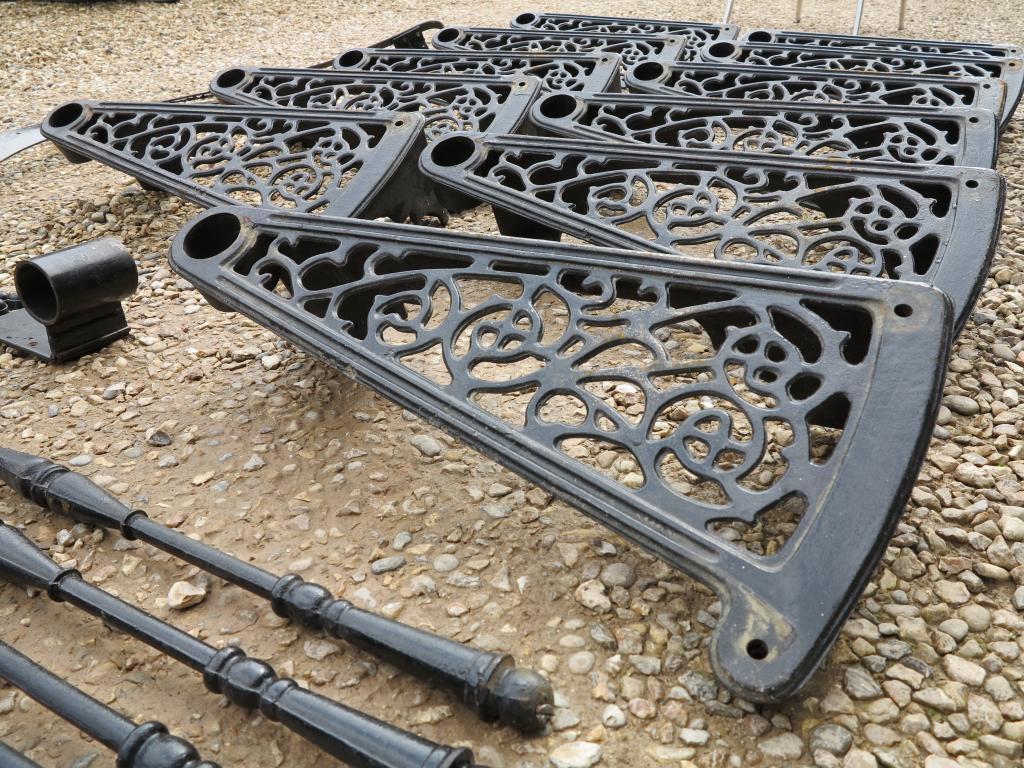 Antique Cast Iron Spiral Staircase,iron Spindles,11 Steps,Cast Iron Spiral  Staircase