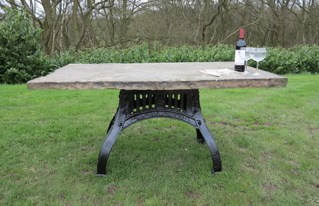outdoor garden & patio reclaimed antique old tables for sale made from wood, stone, cast iron and natural metal such as copper, zinc and brass