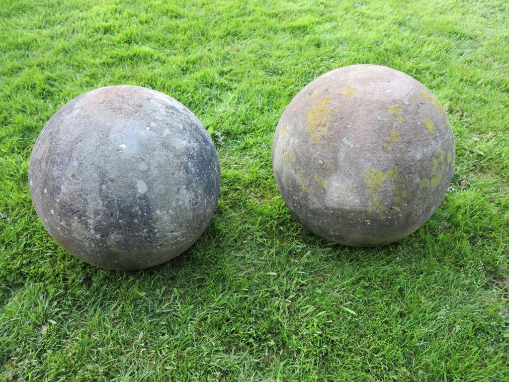Showning the lichen and weathering of the large pair of for Large garden stones for sale