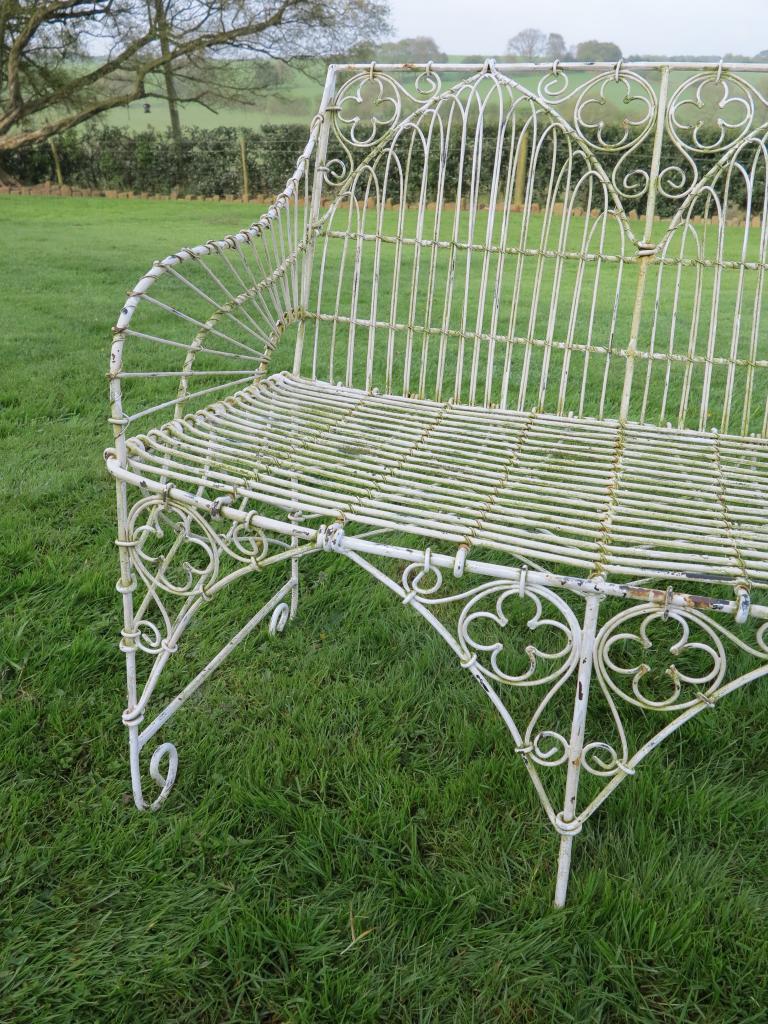 set of 3 gothic wirework benches 7330