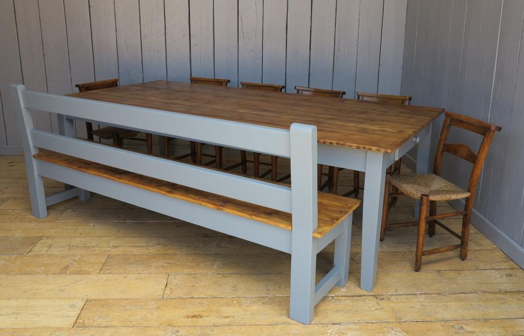 Bespoke made traditional style table and bench made to any size in our workshop