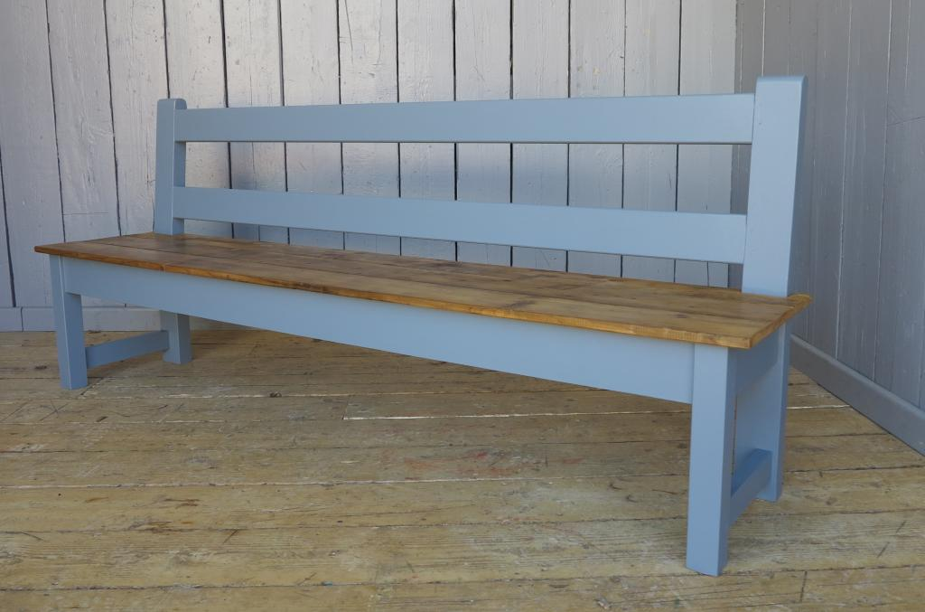 made to measure reclaimed pine benches available in a size of your choice and painted in Paint and Paper