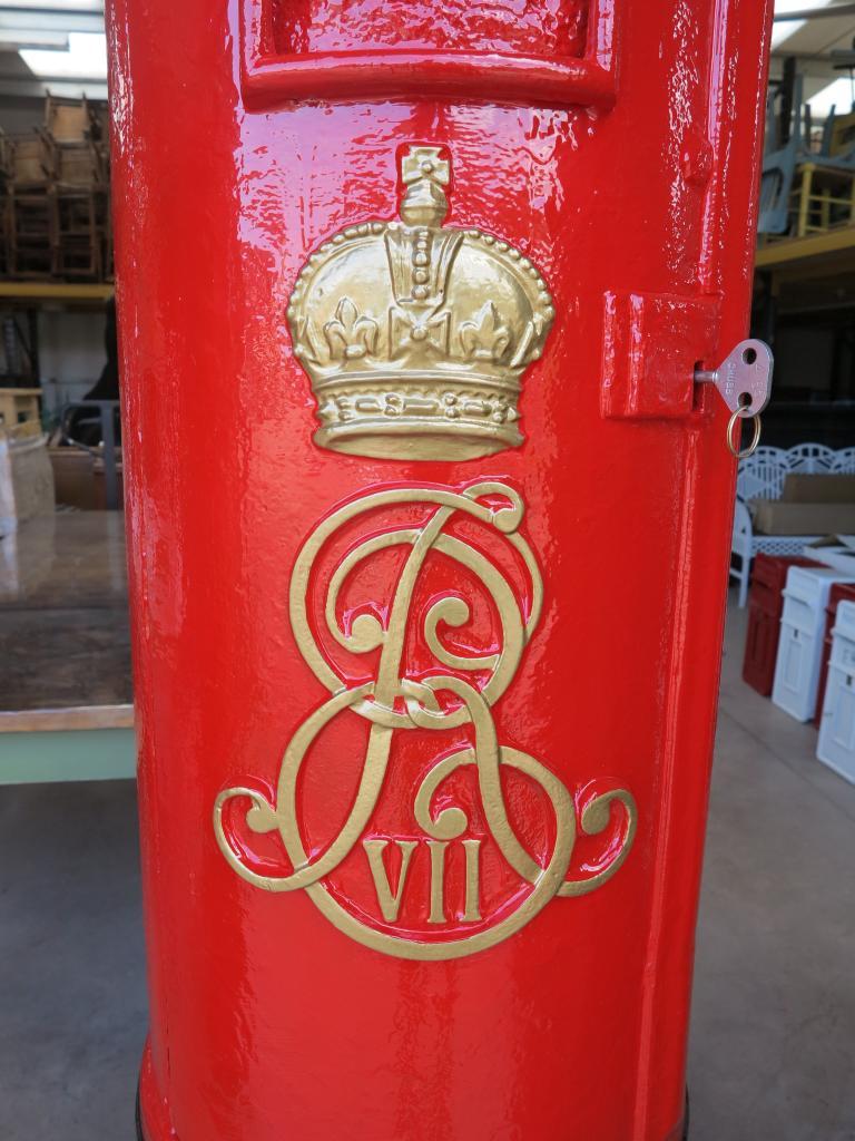 Antique original Edward 7th pillar box fully refurbished in our workshops