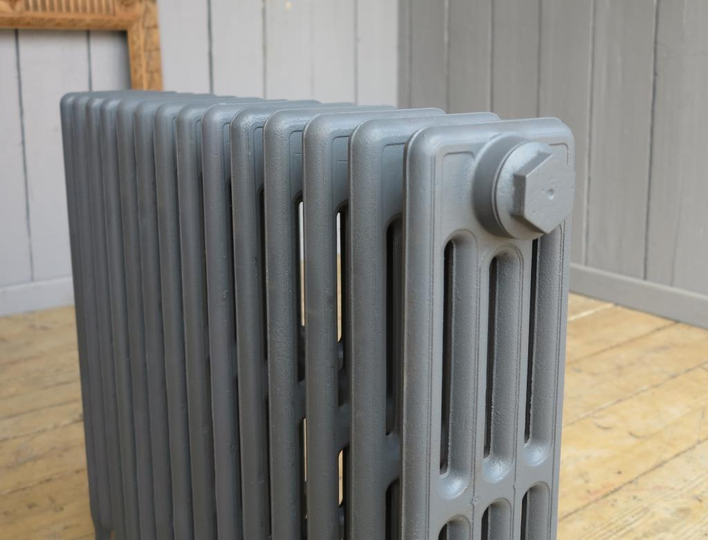 Carron Victorian Style cast iron radiators to go in a primer finish ready to be delivered or collected from our radiator shop