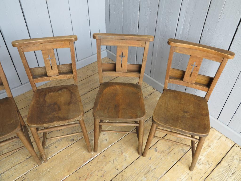 Antique Church Chairs With Book Holders Charis Kitchen Restaurant Or
