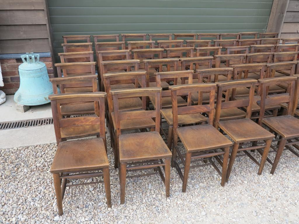 15 available antique church chairs kitchen dining chair for Used school furniture outlet