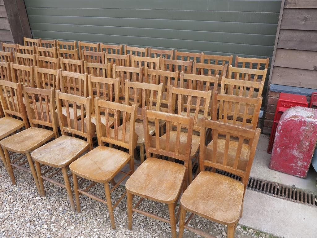 3 Available Orginal Church Chairs With Book Holders Kitchen Dining Chair