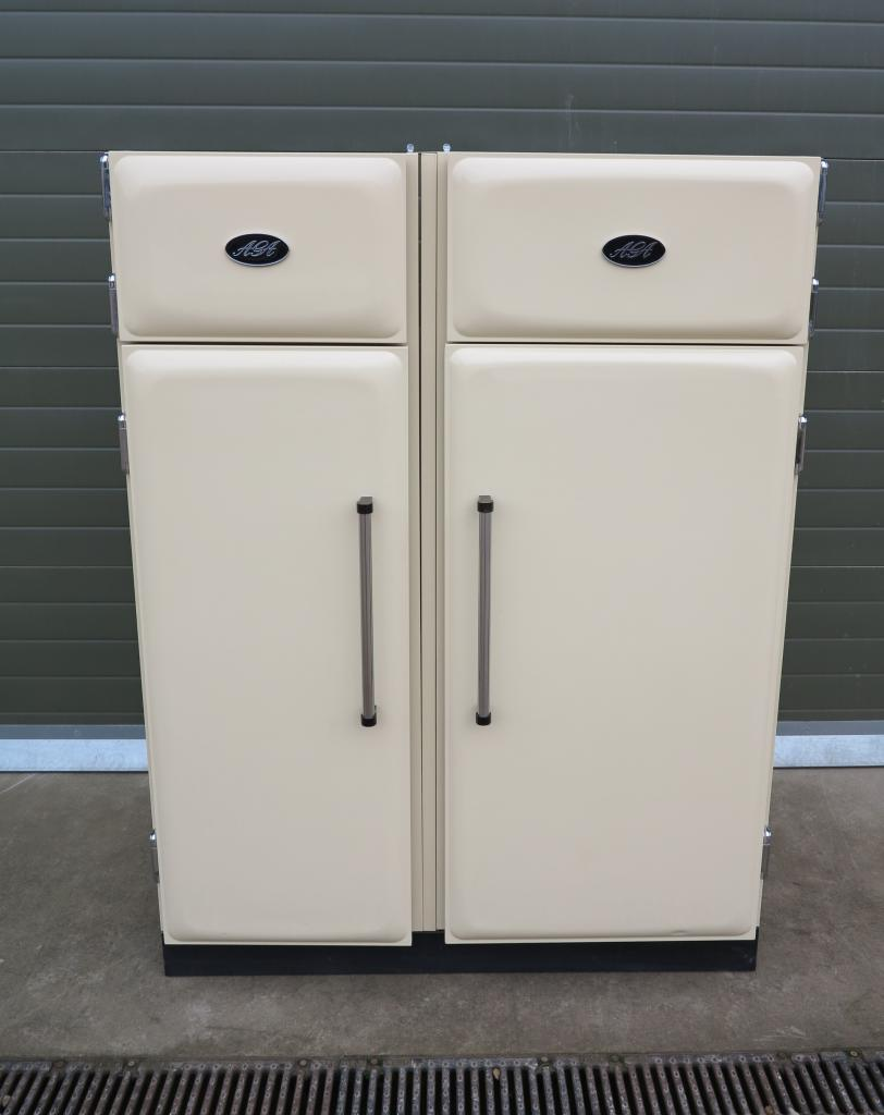 Aga Cream Fridge And Freezer Refrigerator Matching Set