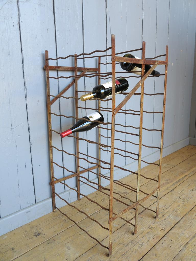 Free standing antique wrought iron wine rack - Wine racks wrought iron floor standing ...