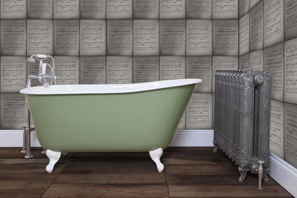 Cast Iron Enamel Roll HUR029 Top Baths are made by Hurlingham and Sold Worldwide by UKAA