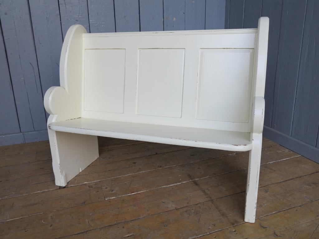 Antique Hand Painted Distressed Church Pew Bench Seat Pews Church Ebay