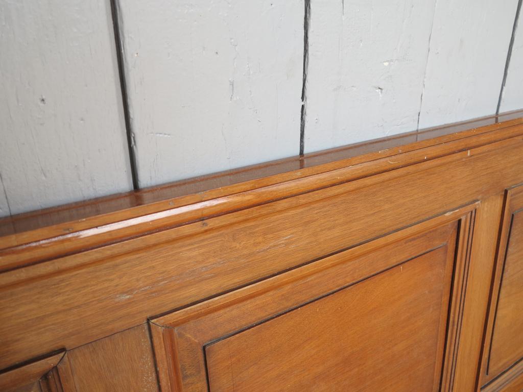 Mahogany Wood Wall Paneling : Quantity of mahogany dado height wall panelling salvaged