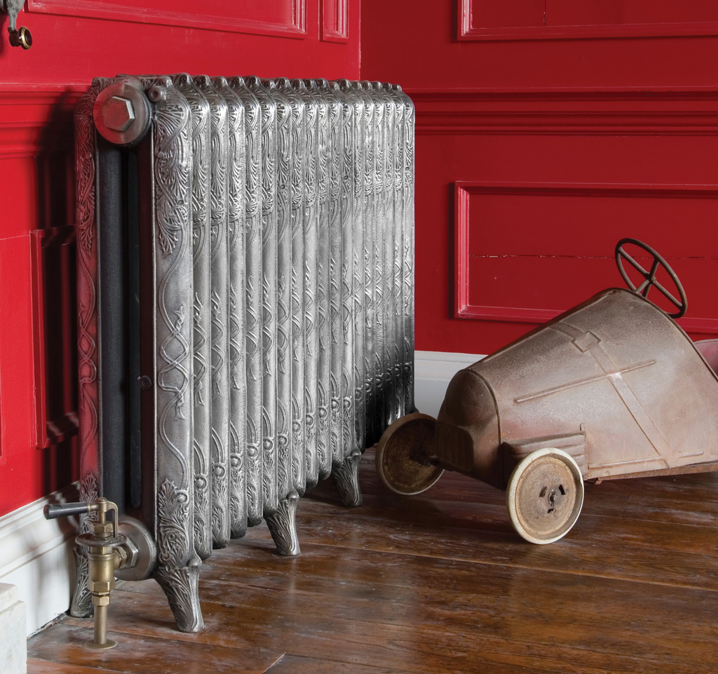 Cast Iron 2 Column Ribbon Radiator made by Carron and Sold Worldwide by UKAA