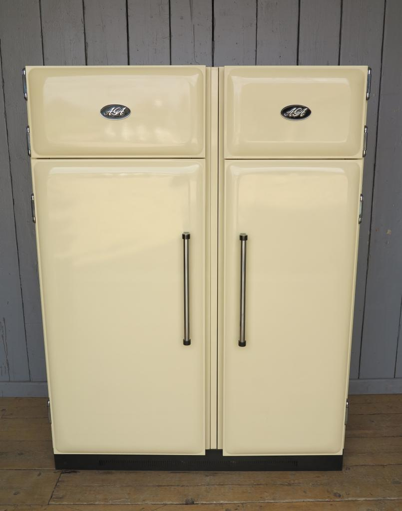 Original Refurbished Cream Aga Fridge And Freezer Available to Buy in our Yard