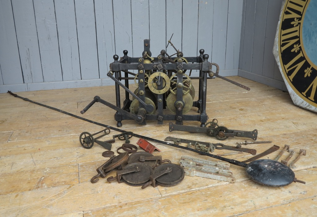 At UKAA we have for sale a selection of very rare antique turret clocks with their original pendulums.