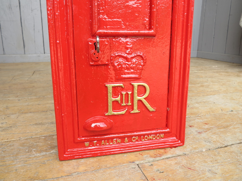 Original fully refurbished ERII Queen Elizabeth post box available for delivery worldwide