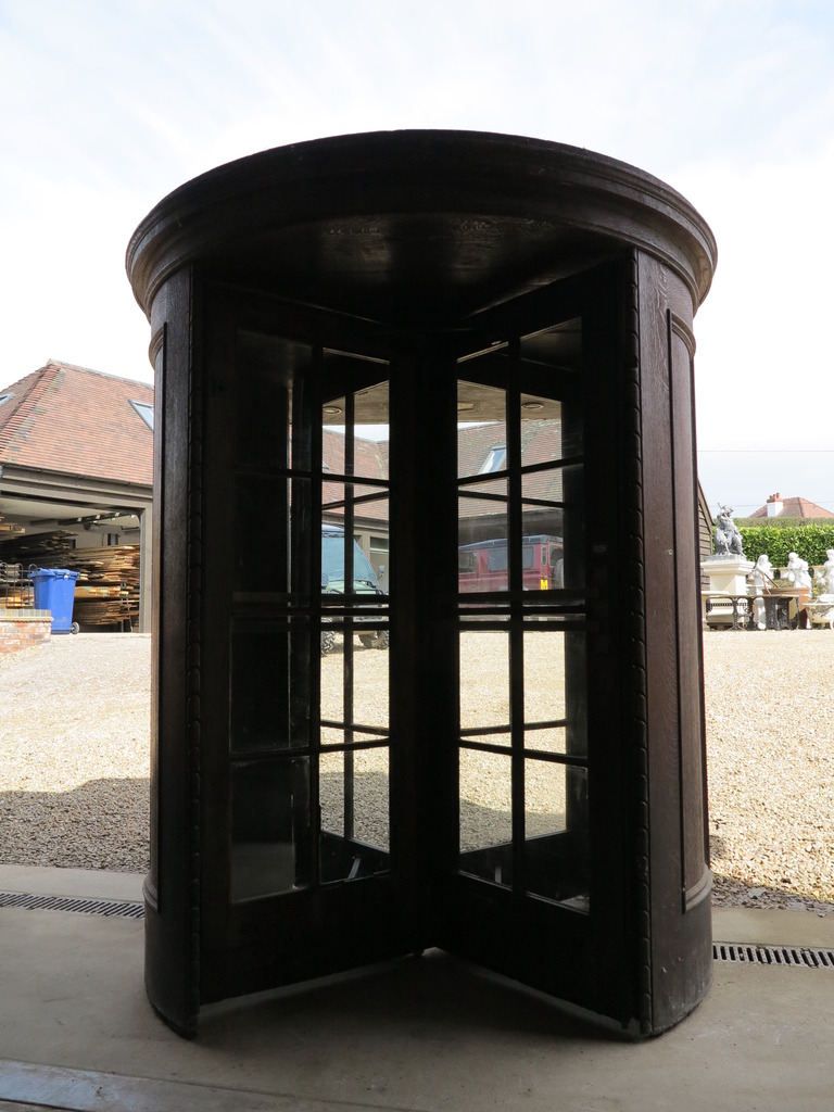 Antique Original Oak Revolving Door Is available From UKAA