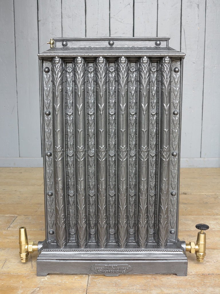 Original antique coalbrookdale cast iron radiators fully refurbished in our workshops ready for use