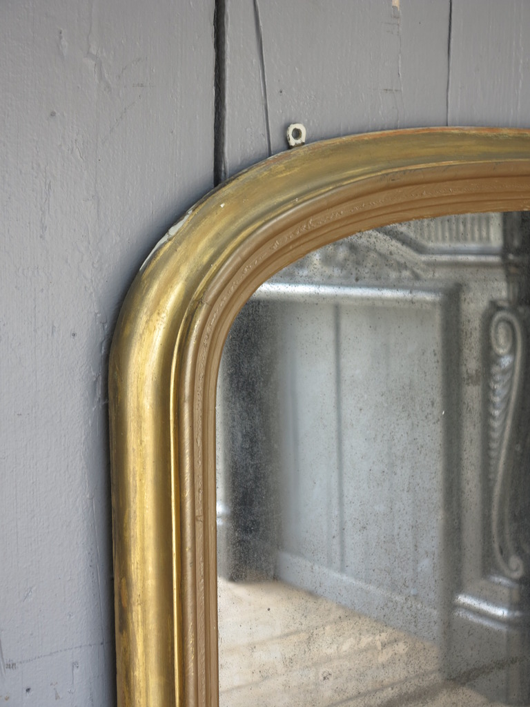 Large Antique Regency Overmantle Wall Mirror 7834