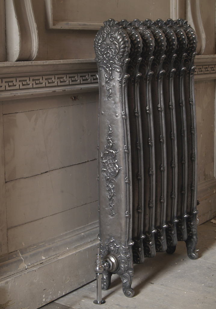 Cast Iron Antoinette Radiator in a hand burnished finish made by Carron and Sold Worldwide by UKAA