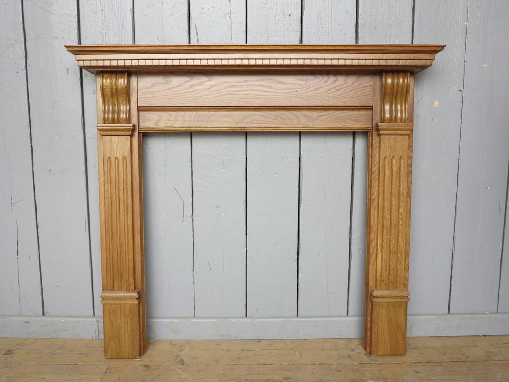 Corbel Waxed Solid Oak Fireplace Surround SMC118