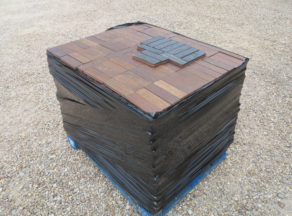 Reclaimed original hardwood recycled parquet flooring are for sale in oak, dark wood and mahogany fully refurbished and ready for delivery worldwide