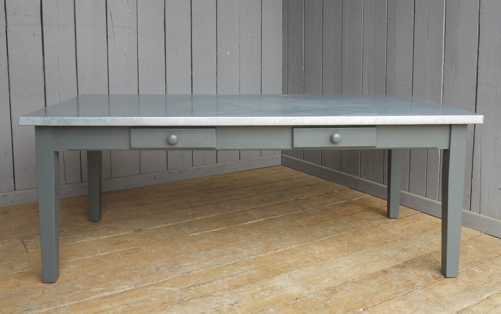 Pine kitchen table made to any size and painted in a colour of your choice here in our workshops