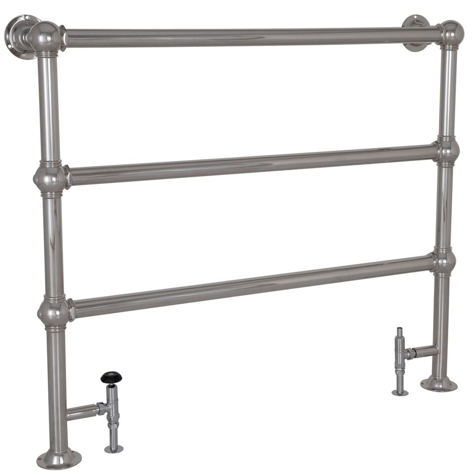 Carron Colossus Horse Steel Towel Rail For Sale: Carron Large Colossus 3 Bar Chrome Floor Mounted Towel