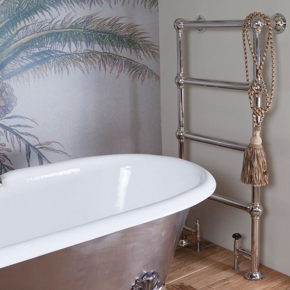 The Carron Colossus TOW009 4 Bar Nickel Finish Towel Rail are in stock ready for next day delivery