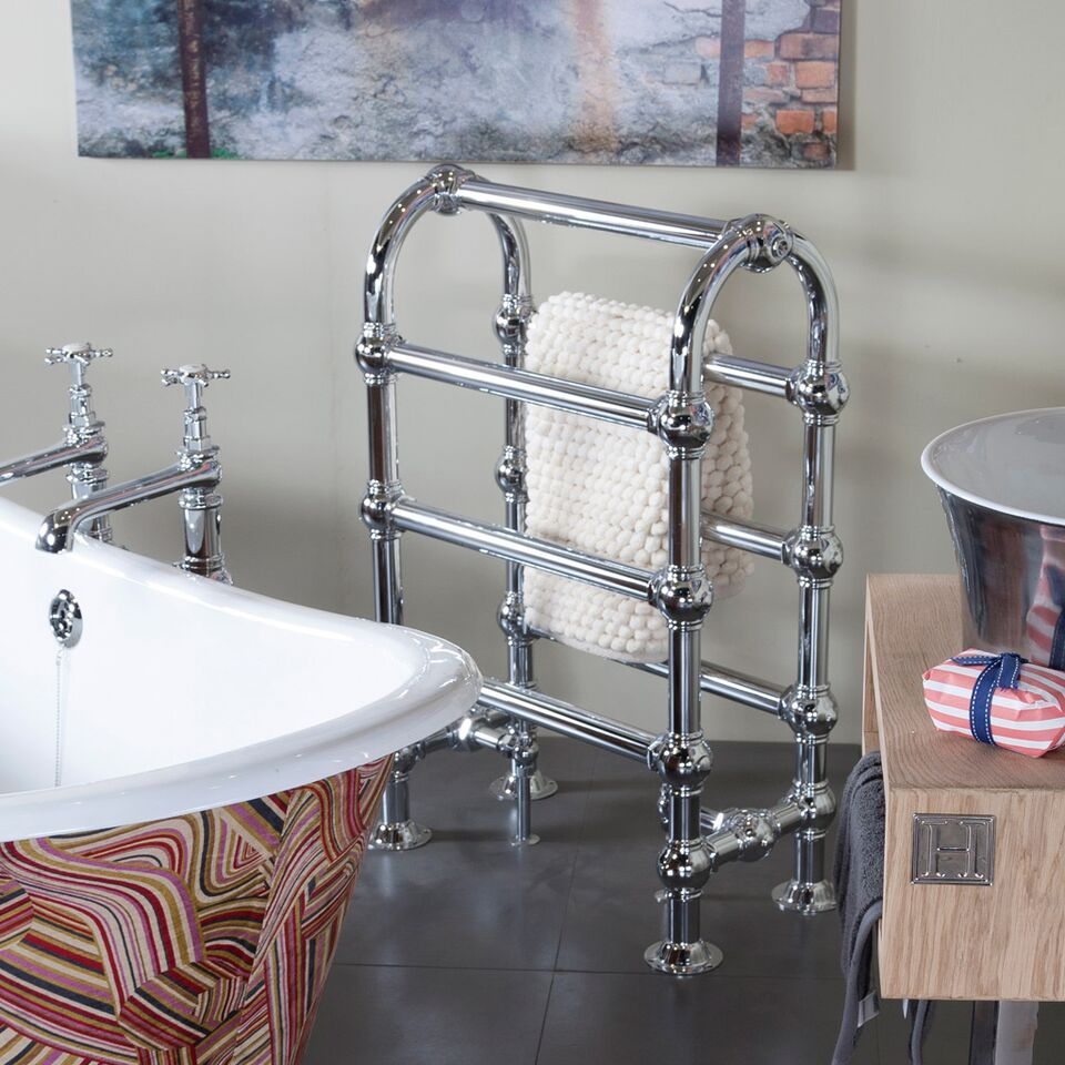 The Carron TOW020 Colossus Horse Chrome Towel Rail Are In Stock Ready For a Next Day Delivery