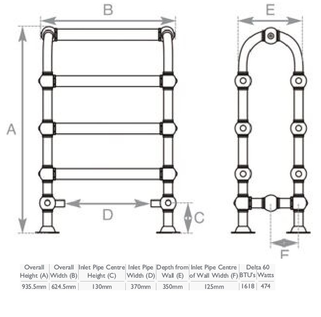 Carron Colossus Horse Steel Towel Rail For Sale: Carron Colossus Nickel Horse Shape Towel Rail TOW021
