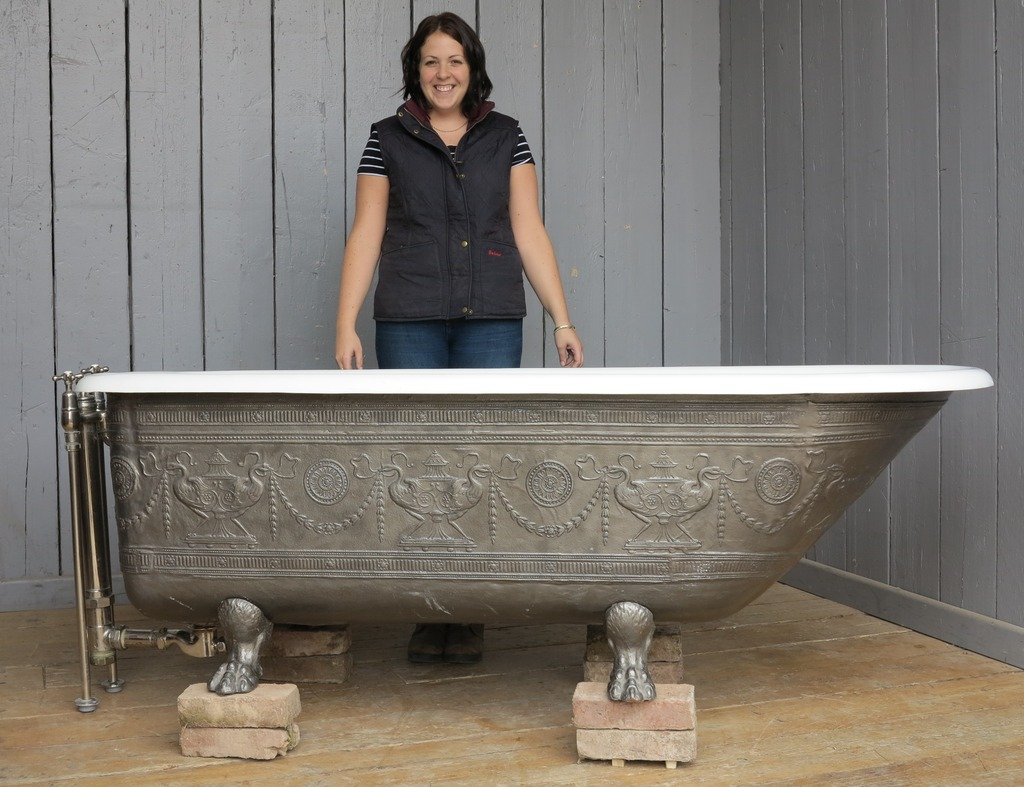 Original Ornate Cast Iron Roll Top Baths With A Shower Option Have Enamel Interiors And Are