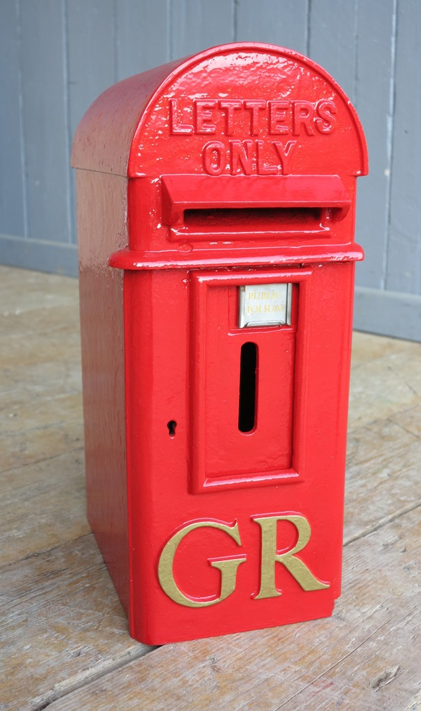 Salvaged fully refurbished old letters only royal mail post boxes ready for delivery worldwide