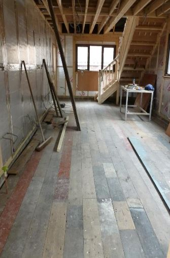 Reclaimed Edwardian Floorboards ready for sanding and oiling