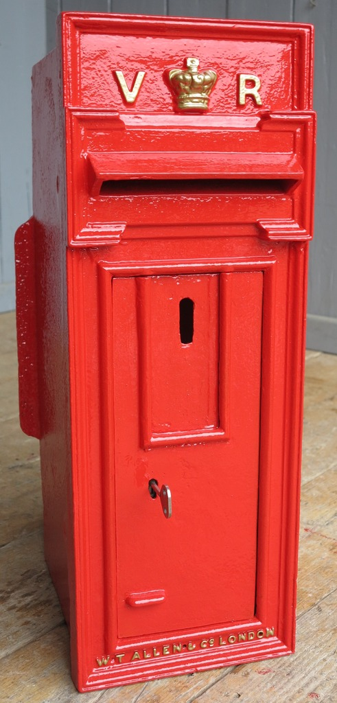 Antique original salvaged Victorian post box fully refurbished in our workshop with original chubb lock