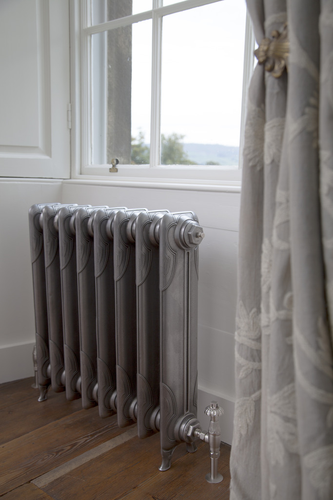 Satin Polished Cast Iron 1 Column Liberty Radiator made by Carron and Sold Worldwide by UKAA