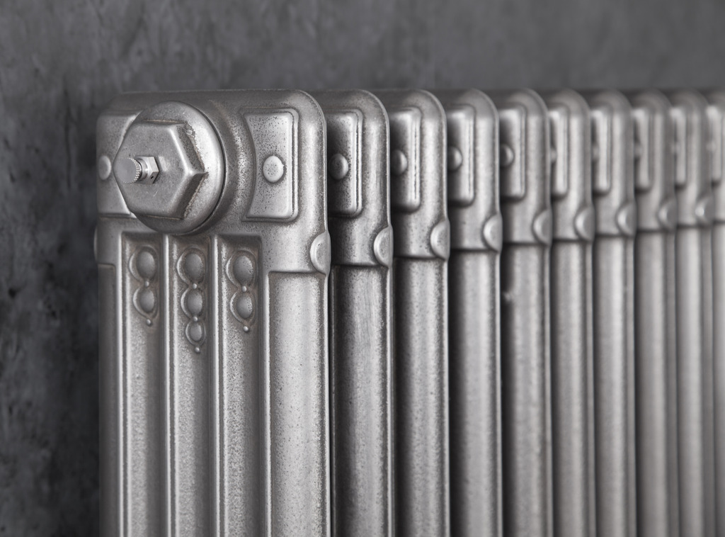 Cast Iron Deco Radiator made by Carron and Sold Worldwide by UKAA In A Hand Burnished Finish