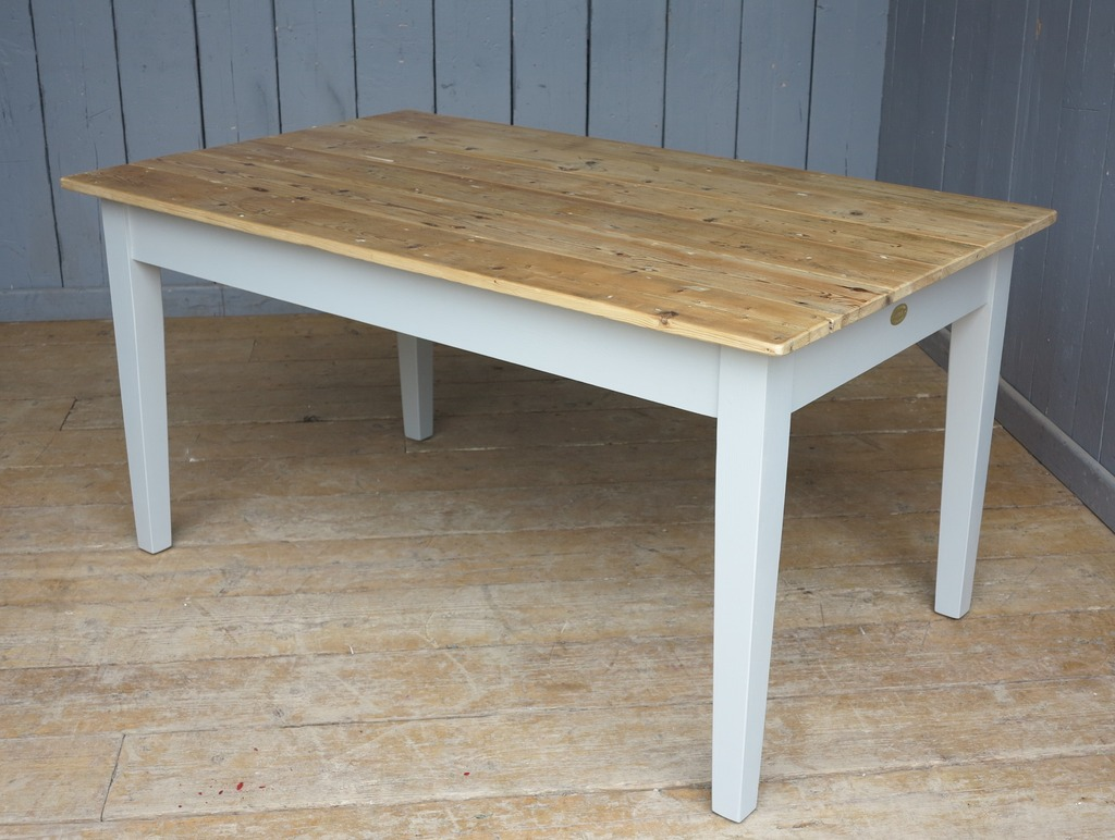 Handmade Wooden Table Made From Reclaimed Pine to Your Bespoke Sizes and Finishes