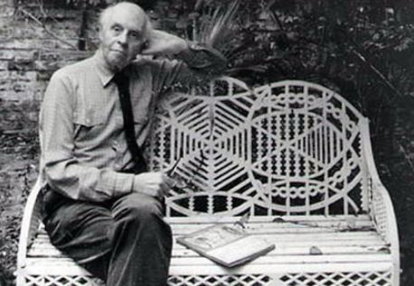 Mr Edward Bawden Who Makes Original Old Garden Tables and Chairs