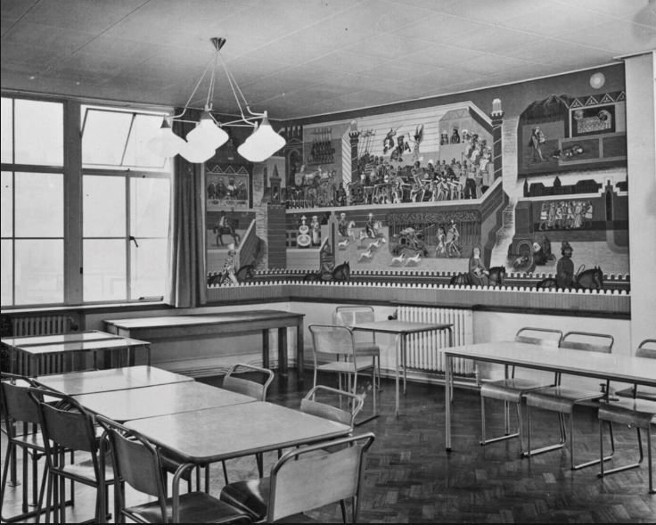 Edward Bawden Made A Hand Painted Wall Mural At Morley College
