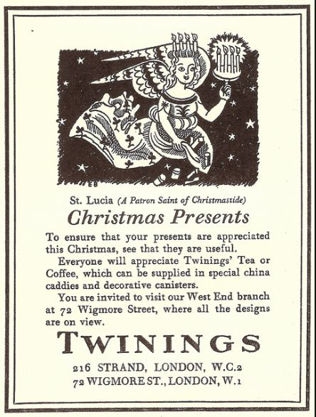 Twinings Advert Created By Edward Bawden